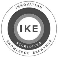 IKE logo grey scale