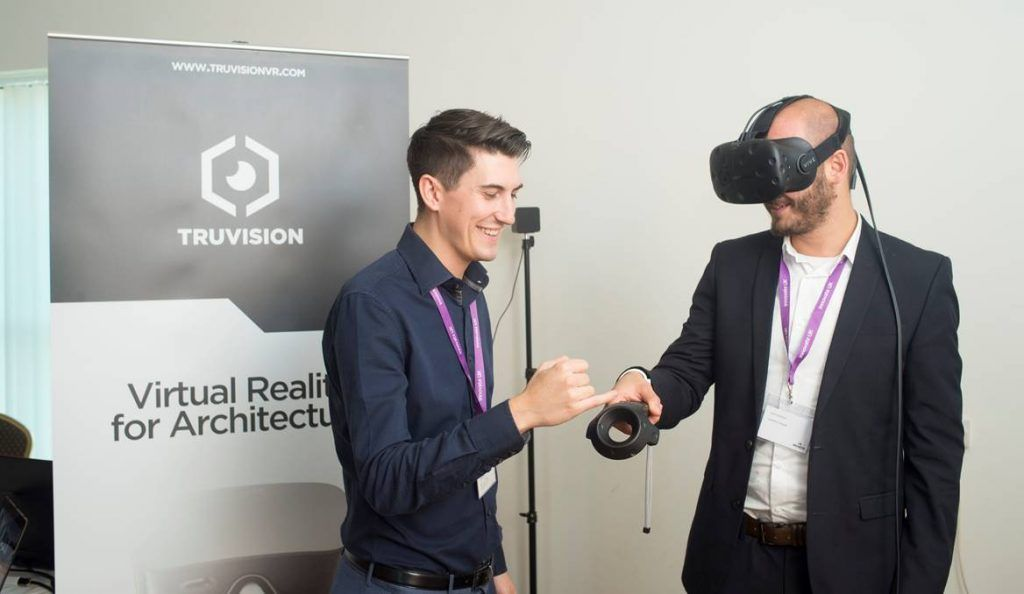 Connor from TruVision demonstrates their VR models